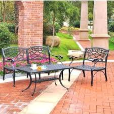 crosley patio furniture 3 piece cast aluminum outdoor conversation seating set club chair cocktail table i62