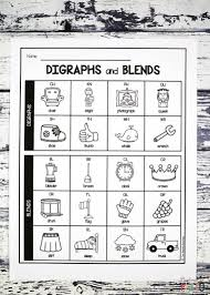 Consonant Blend Chart Printable Digraph And Blend Chart Playdough To Plato