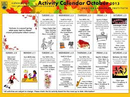 Iep October 2013 – Fall Activity Calendar | Student Life