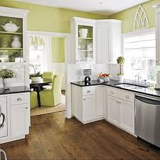 Small Kitchen Paint Colors Kitchen Room White Cabinets And Green Wall Paint Color