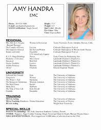 Actor Resume Sample Resume Work Template