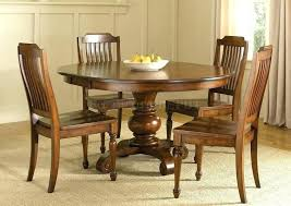 round dining room table for 6 solid wood and chairs inch 60 roo