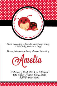 Baby Shower Invitations Enchanting Ladybug Baby Shower Free Printable Ladybug Baby Shower Invitations