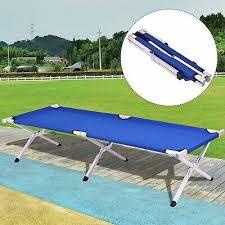 Camping Bed <b>Portable Military Folding</b> Cot Aluminum <b>Beach</b> Indoor ...