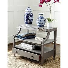 open shelf nightstand.  Nightstand Ballard Designs Sidney Table To Open Shelf Nightstand I
