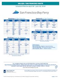 vallejo ferry schedule