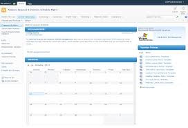 sp2010 absence request vacation schedule management sample activities