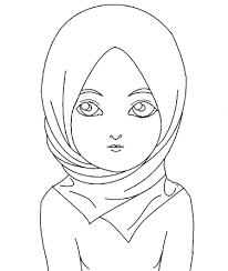 Muslim Woman Coloring Page Industrystudytourswinburnecom