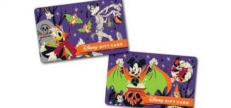 Halloween Gift Cards New Halloween Themed Disney Gift Cards Are The Perfect