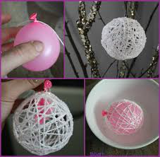 How To Make String Ball Decorations Adorable DIY Pretty String Ball Decoration For Christmas