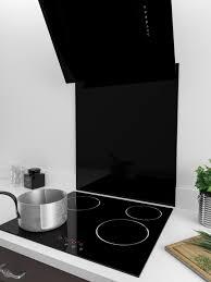 Black Splashback Kitchen 60cm X 70cm Black Glass Splashback Myappliances