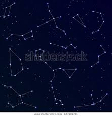 Sky Maps Star Chart Star Chartconstellations Sky Map On Night Stock Image