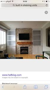 Built in wall unit with fireplace