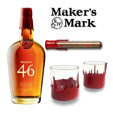 maker s mark 46 gift set with wax dipped gles