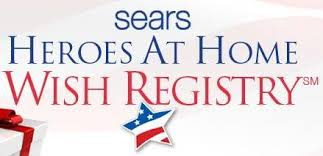 how does the sears heroes at home wish registry work