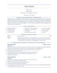 Resume Retail Sales Resume Sample