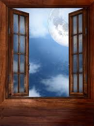 open window at night.  Open Window Moon Open Night Blue Sky House In Open Window At Night W