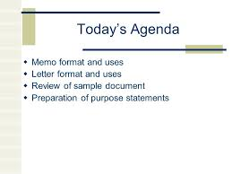 Memo Letter Todays Agenda Memo Format And Uses Letter Format And Uses
