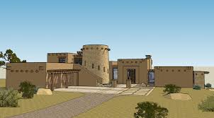 small adobe house plans 3d