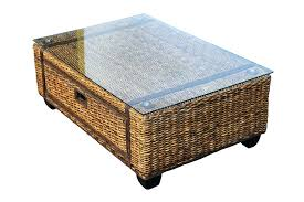 wicker and glass coffee table rattan coffee table with glass top wicker side tables indoor round