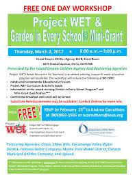 2017_gies Mini Grant Project Wet Workshop Flier Inland