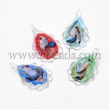 handmade dichroic glass pendants with