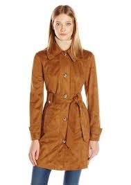 jessica simpson women s suede rain trench coat m