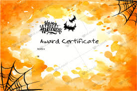 Costume Contest Certificate Template Halloween Award Certificates 5 Printables For Microsoft Word