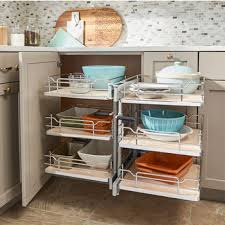 rev a shelf pullout soft close 3 tier wire pull slide pull blind corner optimizer with maple solid bottom for 15 door