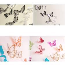 Butterfly Home Decor Accessories 100pcs PVC 100D Wall Stickers Magnet Butterflies DIY Home Decor 50
