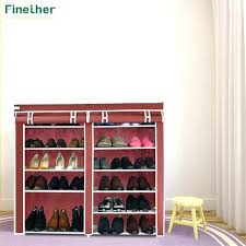 shoes storage racks double fabric shoe rack canvas cabinet prevent dust and moisture shelves ikea canva