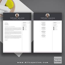 Resume Cover Letter Word Template. Modern Resume And Cover Letter ...
