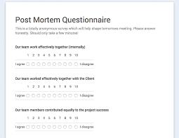 Project Management Post Mortem Template Hosting Post Mortem Meetings 101 Verbal Visual Medium
