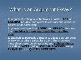 argument writing an introduction what is an argument essay in  what is an argument essay in argument writing a writer takes a position for