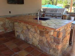 Kitchens With Saltillo Tile Floors Terra Cotta Saltillo Tile Used As Counter Top Application And