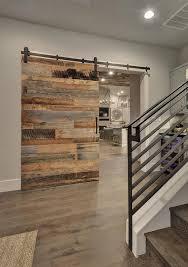 barn interior design. Reclaimed Barn Door. Modern Farmouse Foyer With #ModernFarmhouse #Foyer Interior Design