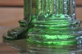 Green Glass Bookends