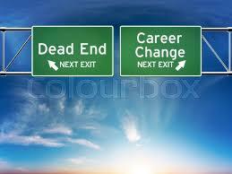dead end job career change or dead end job concept stock photo colourbox