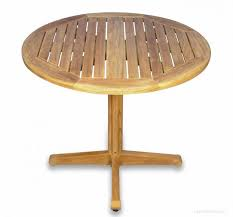 teak pedestal table round 36 inch