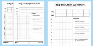Blank Tally Chart And Bar Graph Worksheet Tally And Graph Worksheet Worksheet Template Tally