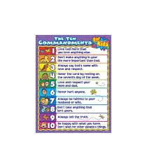 10 Commandments Chart The Ten Commandments For Kids Chart