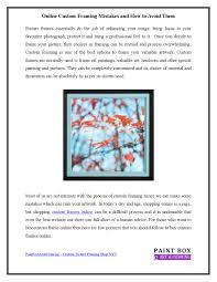 custom frames online. Custom Frames Online