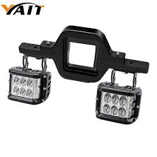Truck Mounted Led Work Lights Us 51 09 15 Off Yait Left Right Pair 72w Led Cube Off Road Work Lights Tow Hitch Mounting Bracket For Jeep Truck 4x4 Trailer Rv Suv In Light