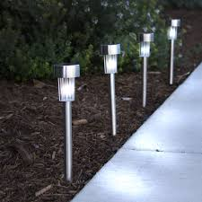 Color Changing Solar Lights Walmart Best Choice Products Solar Power Stainless Steel Led Path Lights Walmart Com