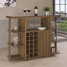 wine bottle storage furniture. Coaster Bar Units And Tables Modern Unit With Wine Bottle Storage -  Fine Furniture Wine Bottle Storage Furniture A