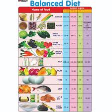 Balanced Diet Chart Chart No 186 Balanced Diet