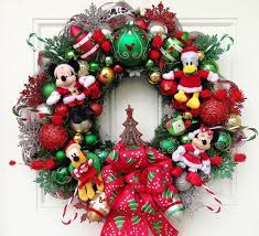 Disney Christmas Wreath by SparkleForYourCastle on Etsy, $159.00