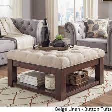 ottoman coffee table tray new lennon espresso brown square storage ottoman coffee table by of ottoman