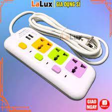 Ổ Cắm Điện Đa Năng 3 Phích - Phích Cắm Điện Chống Giật 2 Cổng Sạc USB - Ổ  Cắm Điện Thông Minh 8623 - Ổ cắm điện