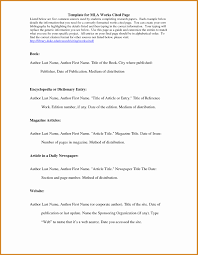 Mla Works Cited Page Template Simple Template Design